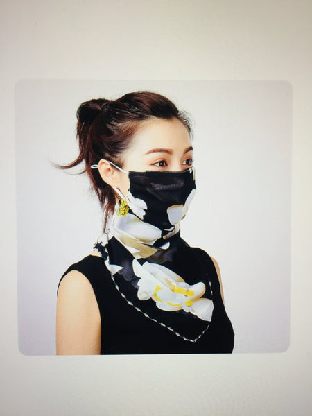 1 Fits All - BlackF - Face Mask Scarf
