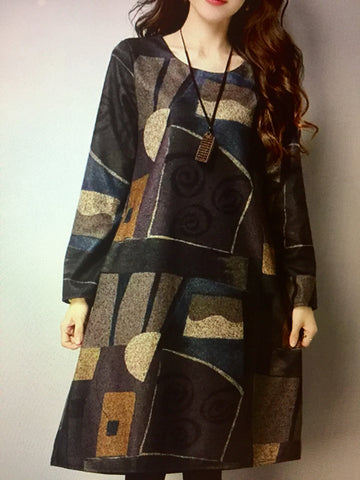 Loose Long Dress Sweater