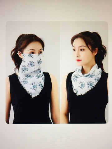 1 Fits All - WhiteF - Face Mask Scarf