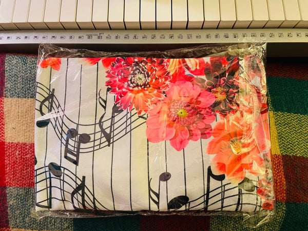 Cotton Casual Music Tote Bag