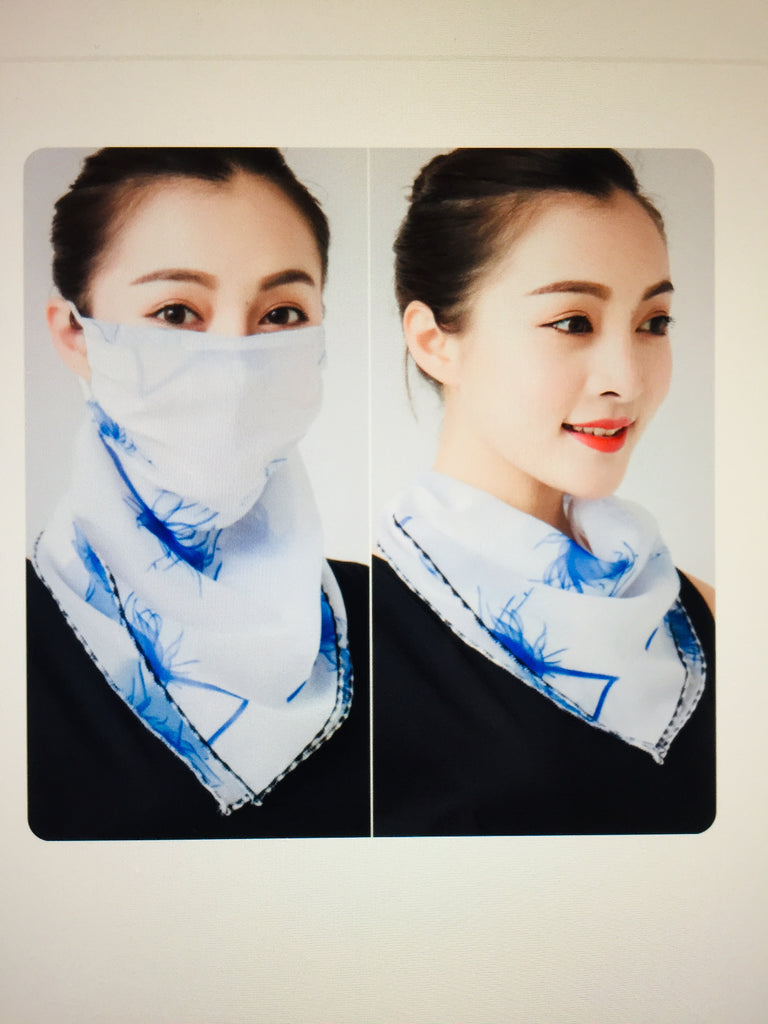 1 Fits All - BlueW - Face Mask Scarf