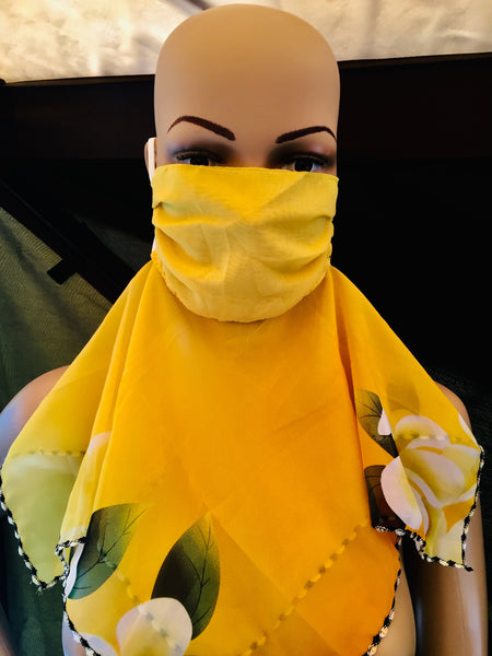 1 Fits All - Yellow Gold - Face Mask Scarf