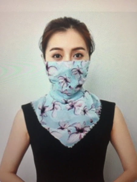 1 Fits All - LBlueF - Face Mask Scarf