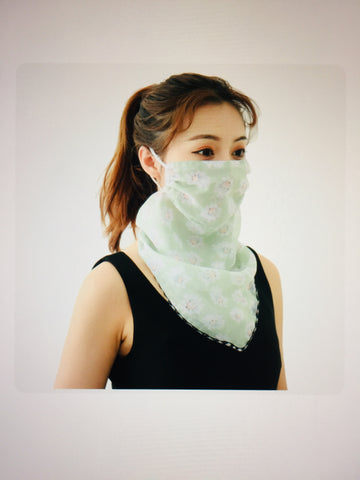 1 Fits All - LGreen - Face Mask Scarf