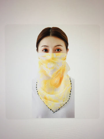 1 Fits All - Yellow - Face Mask Scarf