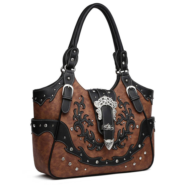 Western Buckle Tote Bag