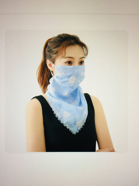1 Fits All - LightB - Face Mask Scarf