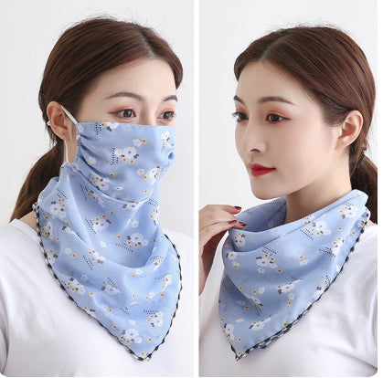 1 Fits All - BabyBlue - Face Mask Scarf