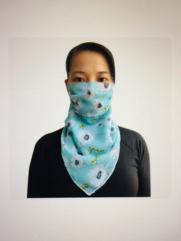 1 Fits All - LBlueGFl - Face Mask Scarf