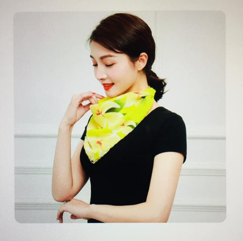 1 Fits All - Yellow -Face Mask Scarf