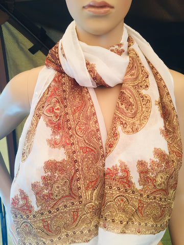Silk Polyester Scarf Wrap Shawl Long Cover