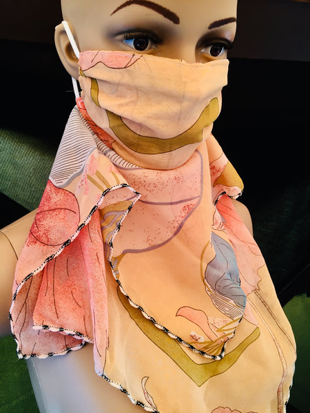 1 Fits All -Light P - Face Mask Scarf