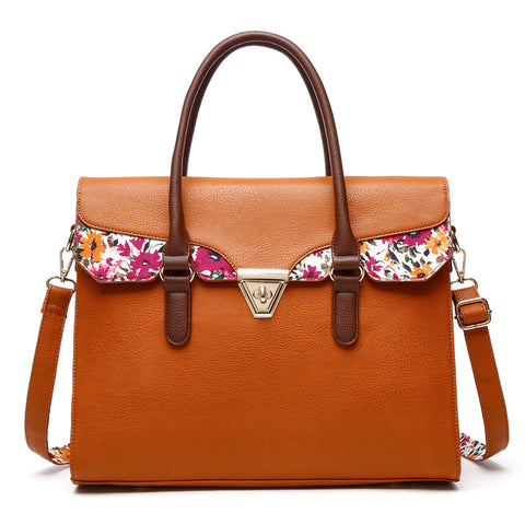 Flower Printed Satchel