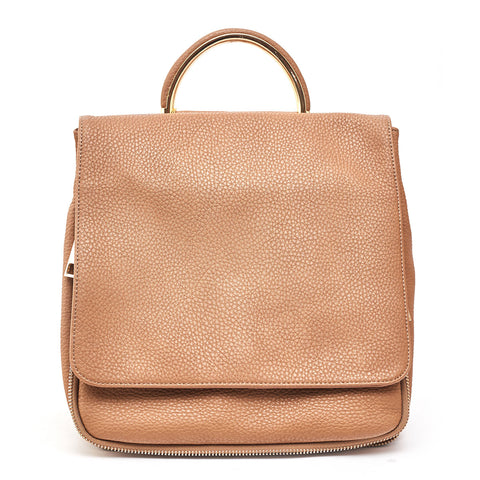 NEW Fashion Flap Over Backpack Taupe