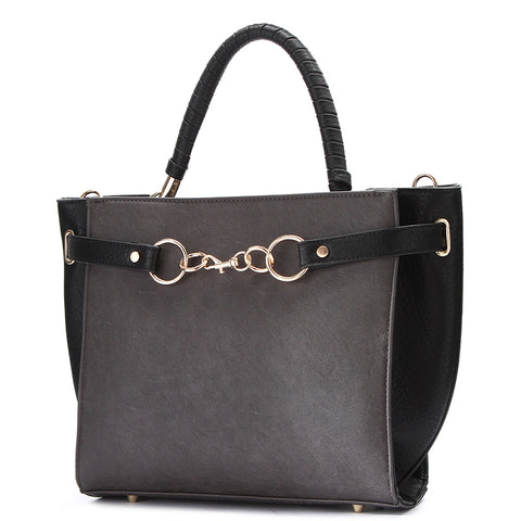 Fashion Satchel Black Color Handbag