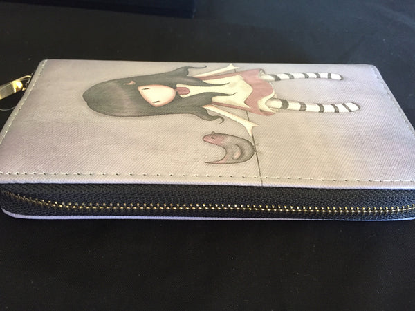 1 Long Shaped Little Girl Design Wallet