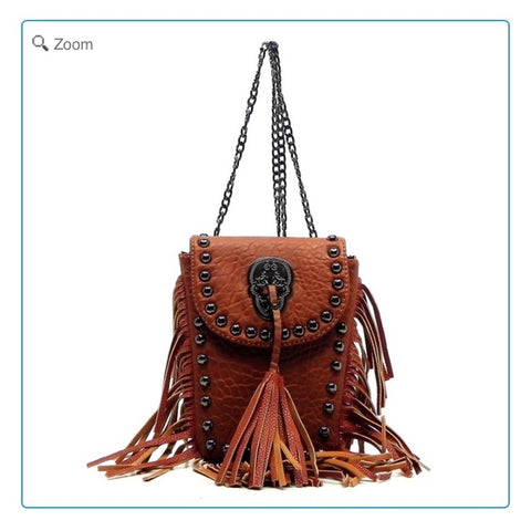 Western Fringe Mini Cross Body Bag