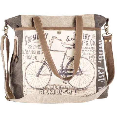 CLEA RAY American Ramblers Canvas Tote Bag