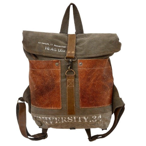 CLEA RAY University Canvas Backpack