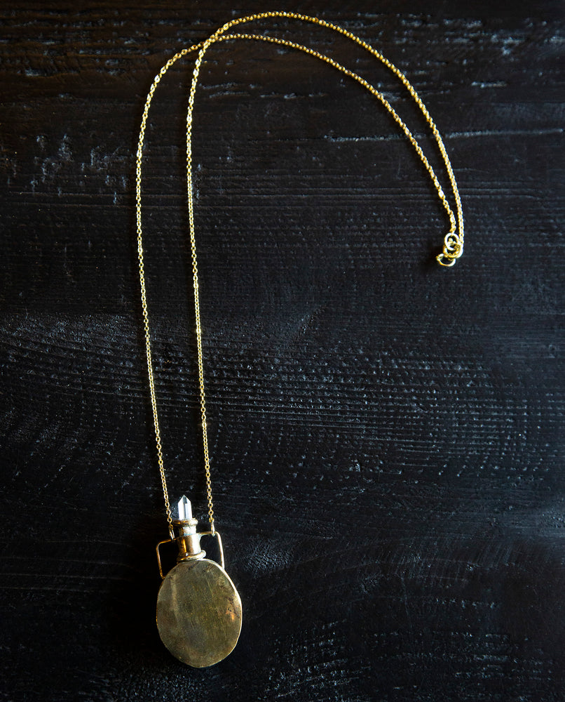 Crystal Amphora Necklace - perfume necklace