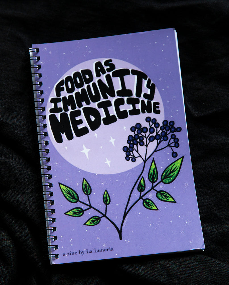 Food as Immunity Medicine - Zine by La Luneria