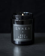 Feu Sacré - Sacred Fire Candle with wooden wick // holy basil, pine tar, incense