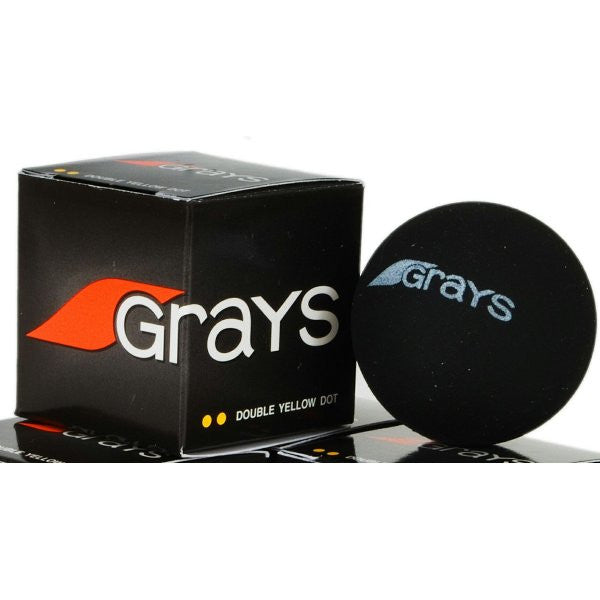 Grays Double Yellow Dot Squash Ball