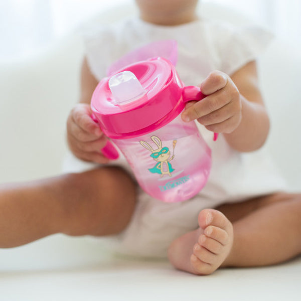 Dr Browns Soft Spout Toddler Cup with Handles - Pink