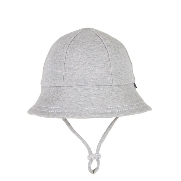 Bedhead Baby Bucket Hat with Strap - Grey Marle