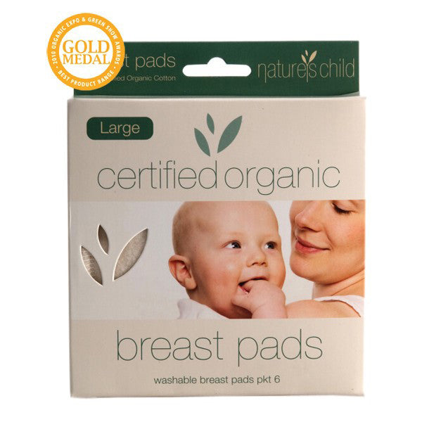 Natures Child Organic Cotton Breast Pads - Large