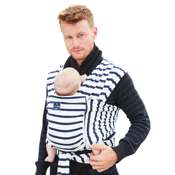 Hugabub Organic Pocket Wrap Carrier - French Sailor Stripe