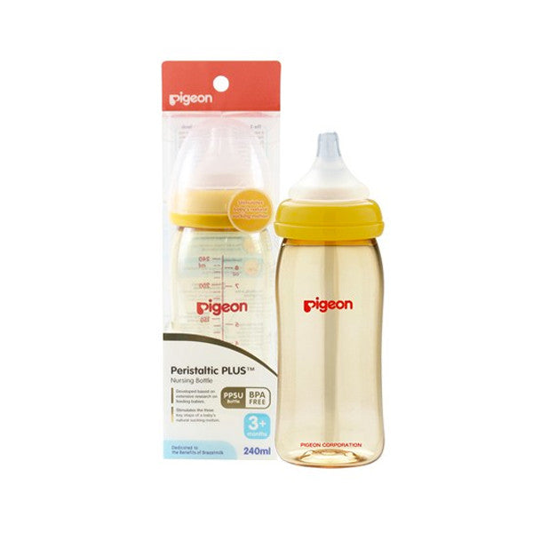 Pigeon Peristaltic Plus Wide Neck Bottle - PPSU