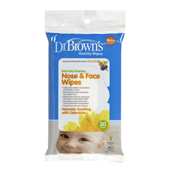 Dr Browns Nose & Face Wipes