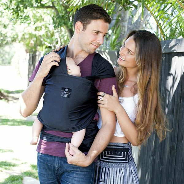 Hugabub Organic Lightweight Wrap Carrier - Charcoal