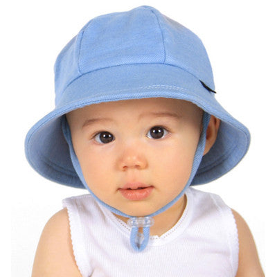 Bedhead Baby Bucket Hat with Strap - Chambray