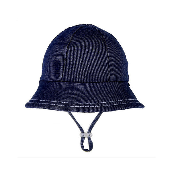 Bedhead Baby Bucket Hat with Strap - Denim