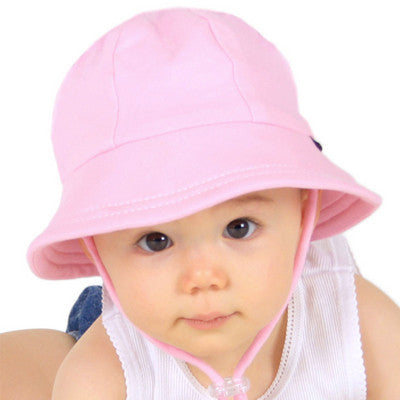 Bedhead Baby Bucket Hat with Strap - Blush Pink