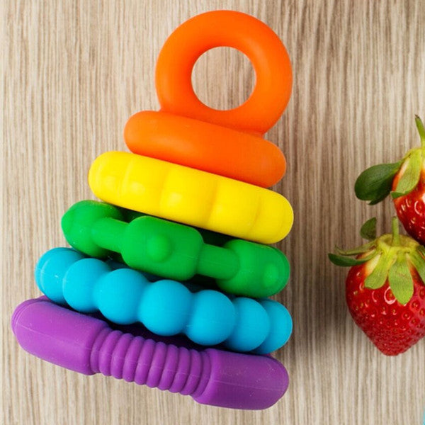 Jellystone Designs Rainbow Stacker Teether and Toy