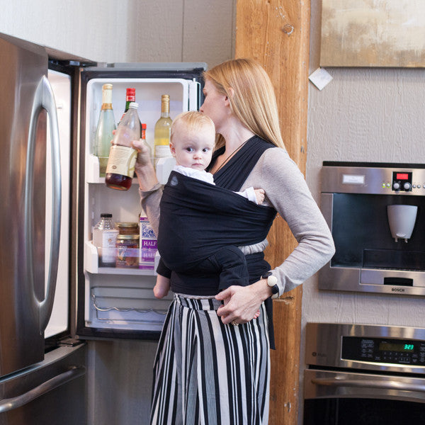 Moby Bamboo Wrap Carrier - Black