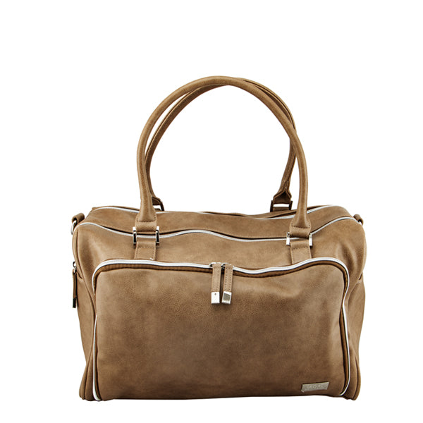 Isoki Double Zip Satchel - Latte