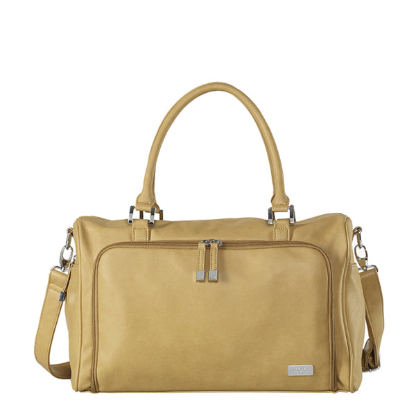 Isoki Double Zip Satchel - Sorrento Light Tan