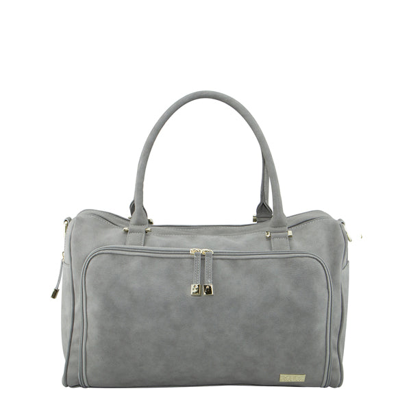 Isoki Double Zip Satchel - Stone