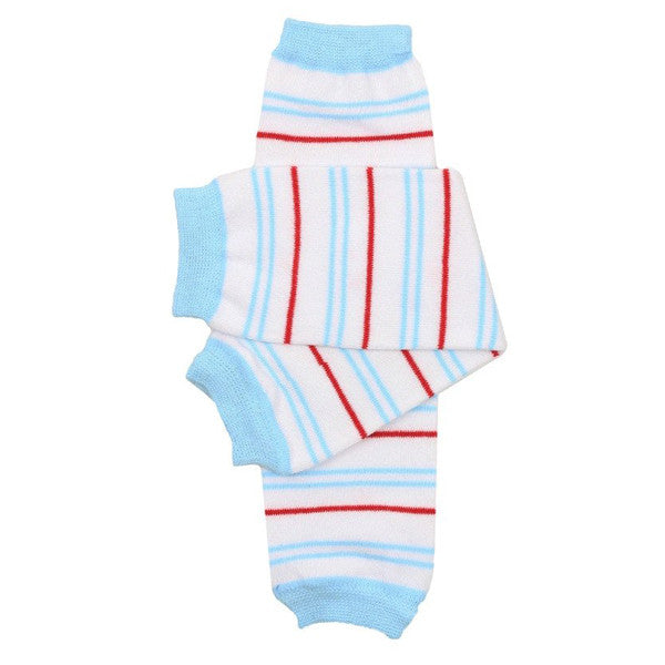 juDanzy Cotton Leg Warmers - Cape Cod Stripe
