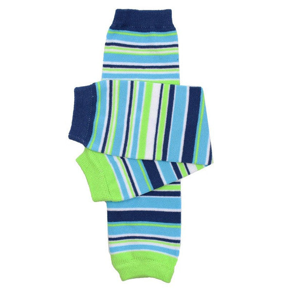 juDanzy Cotton Leg Warmers - Safari Stripe
