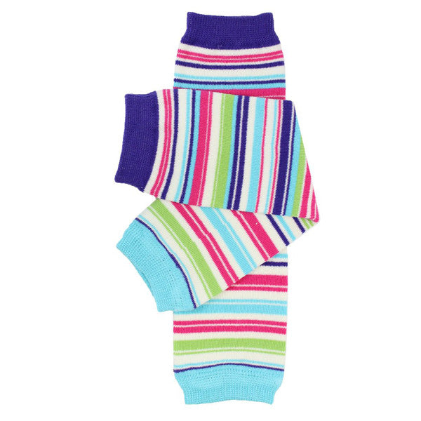 juDanzy Cotton Leg Warmers - Linear Stripe