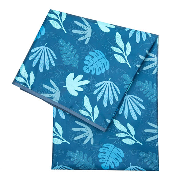 Bumkins Waterproof Splat Mat - Blue Tropic
