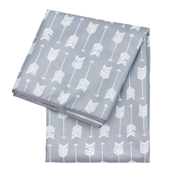 Bumkins Waterproof Splat Mat - Grey Arrow
