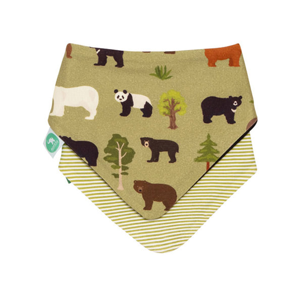 All4Ella Reversible Bandana Bibs 2pk - Bears