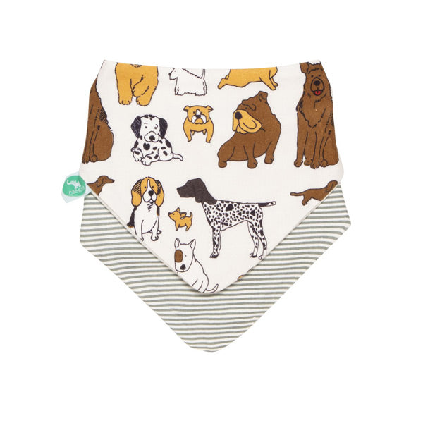 All4Ella Reversible Bandana Bibs 2pk - Dog Breed