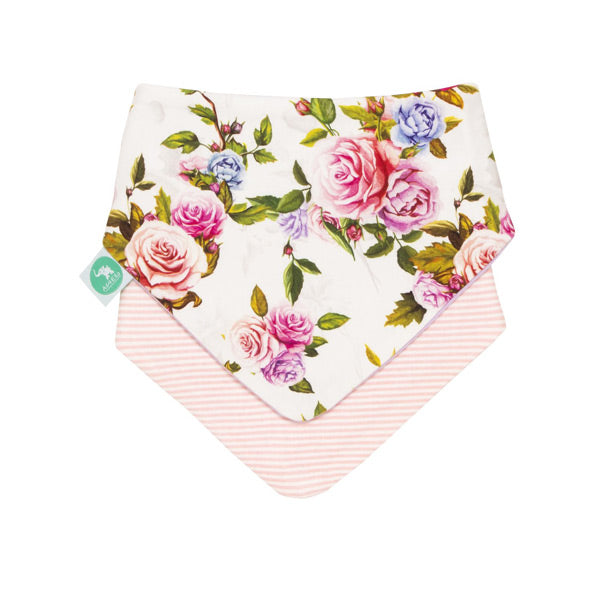 All4Ella Reversible Bandana Bibs 2pk - Rose